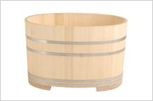 小判形浴槽のイメージ